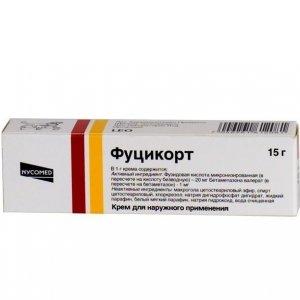 Купить фуцикорт крем 15г туба (бетаметазон + фузидовая к-та) в.